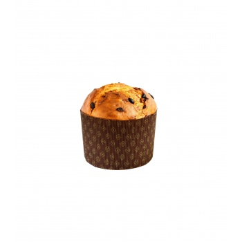 "Corrugated Round Traditional High Style Panettone (Panettone Alto) - 5 1/4"" x 3 3/4""- 12 pcs"