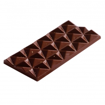 Polycarbonate Chocolate Pyramids Bar Mold - 3 pcs - 138x72 h11mm - 80gr