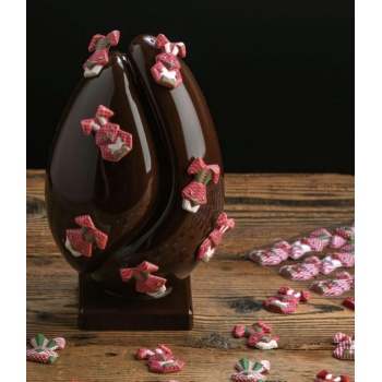 Pavoni Thermoformed GRAIN CHOCOLATE EGG Mold - Ø 135 ×  215 mm - Weight ~ 400 g  - 2 kit / box
