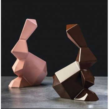 Pavoni Thermoformed Rocky Roger Origami Rabbit Mold - Ø 145 x 95 × 180 mm - Weight ~ 170 g  - 2 kit / box