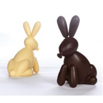 Pavoni Thermoformed Balloon Rabbit Mold - Ø 125 x 90 × 200 mm - Weight ~ 150 g  - 2 kit / box
