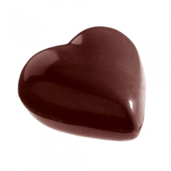 Polycarbonate Chocolate Mold Small Puffy Heart - 33x31x15mm - 11 gr - 3x8 Cavity - 275 x 135 x 24 mm
