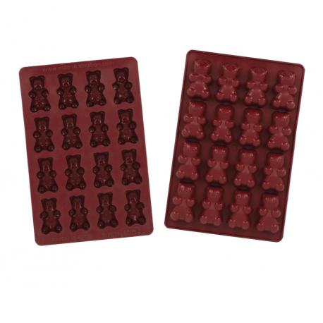 Silicone Teddy Bear Mold - 58 x 33 mm - 16 Cavity -  290 x 190 mm