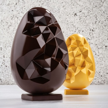 Pavoni Thermoformed ROGER Easter Rabbit Mold - 155 x 110 x 200  mm - 270gr - 2 Pieces