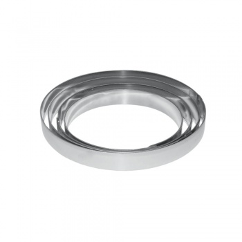 Stainless Steel  Round Tart Ring - Ø 16 x 3 cm
