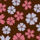Chocolate Transfer Sheets - Pink and Burgundy Lotus - 123 x 263 mm - 20 sheets