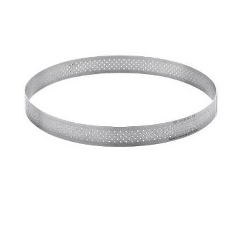 De Buyer Stainless Steel Perforated Tart Ring - 3/4'' High Round Ø 12''