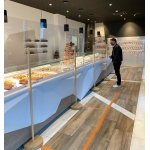 Ground Plexiglass Protection Barrier 100 x 100 cm - Total Height: 190 cm