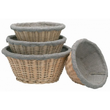 Matfer Bourgeat Banneton Willow Basket Oval 7 7/8'' x 4 3/4'' - 6oz.