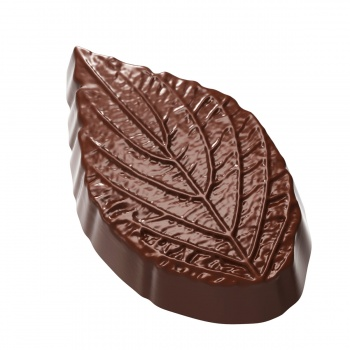 Polycarbonate Chocolate Leave Structure 27 x 45 x 10 mm - 3x7 pc - 8.5 gr - 275x 135 x24 mm