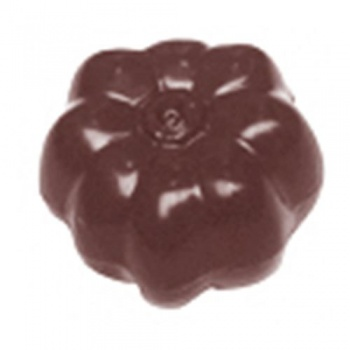 Polycarbonate Halloween Pumpkin Chocolate Mold - Double Mold - 33x33x21 mm - 2x7.5 gr - 3x6 Cavity -  12 Whole fig - 275x175mm