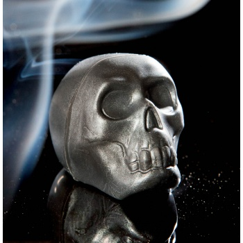 Polycarbonate Human Skull Chocolate Mold - Double Mold - 26x19x27 mm - 16 gr - 3x8 Cavity -  275x175mm