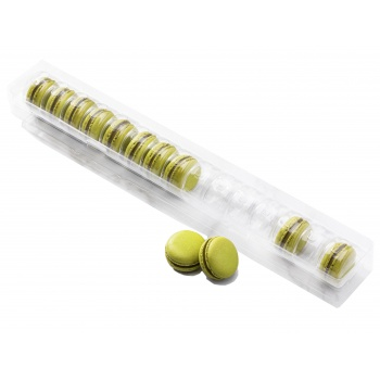 Clear Plastic Thermoformed Macarons Storage and Display Trays - 15 Macarons - Pack of 60