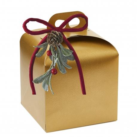 White Box with handle for Pastries Boite a Panetone - 18 x 18 x 20 cm - 25pcs