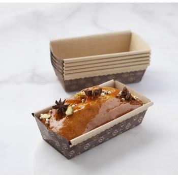 Novacart Paper Loaf Pans Small 6'' x 2.5'' x 2'' - PM150 - 1000 pcs