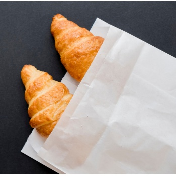 White viennoiseries bags 250 x 140mm - pack of 500