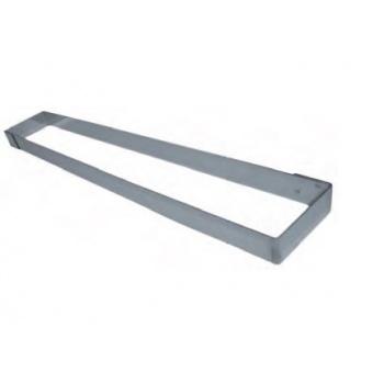 Stainless Steel Long Rectangle Cake Frame 57 x 11 x 4.5cm