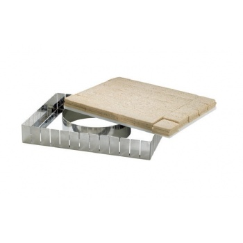Full Size Stainless Steel Cutting Frame to cut uniorms Pastry cubes - 57x37cm - 117 parts 41x38mm