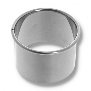 Stainless Steel Heavy Duty High Round Pastry Cutter - Ø 9 cm - H.5 cm