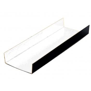 Black / Gold Long Rectangle Foldable Monoportion Board - 13 x 4.5 cm - White Inside - 200pcs