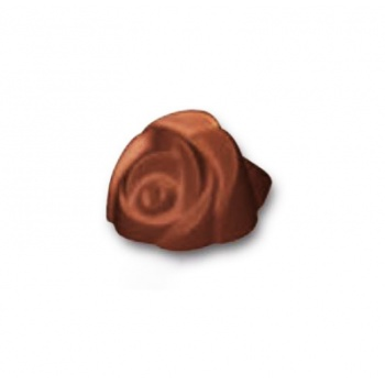 Polycarbonate Rose Flower Chocolate Mold  - 34 x 30 x 20 mm -  4 x 6 - 275 x 175 mm -  11gr.