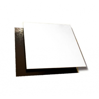 Black/Gold Square Cake Board - 18 cm - 7.8'' - 50pcs