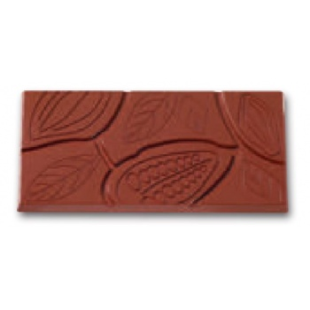 Polycarbonate Chocolate Mold - Etched Tablet Mold - 154.3 x 75.3 x 8.1 - 3x1 cavity - 275x175 - gr 100 ca