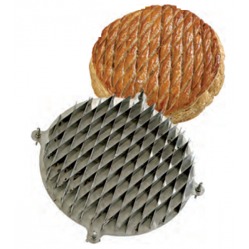 Stainless Steel Galette des Rois Kings Cake Diamond Design Cutter - Ø 28 cm