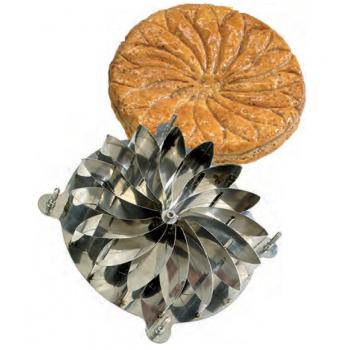 Stainless Steel Galette des Rois Kings Cake Rosace Design Cutter - Ø 28 cm