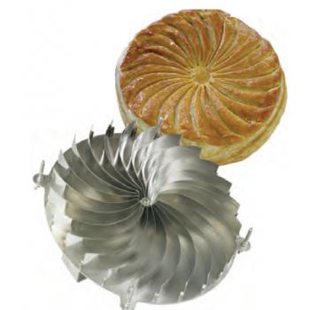Stainless Steel Galette des Rois Kings Cake Sun Design Cutter - Ø 28 cm