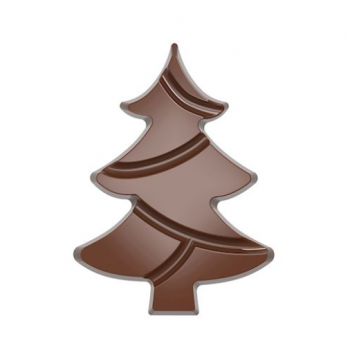 Polycarbonate Chocolate Mold TABLET CHRISTMAS TREE - 139.5mmx103mmx12mm - 84.5gr - 1x2 cavity - 275x135x24mm