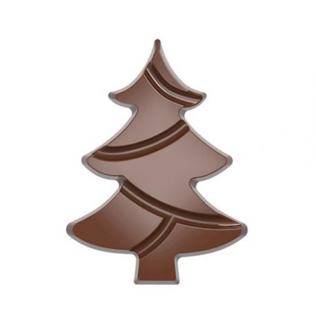 Polycarbonate Chocolate Mold TABLET CHRISTMAS TREE - 139.5mmx103mmx12mm - 84.5gr - 1x2 cavity - 275x135x24mm