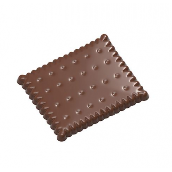 Polycarbonate Chocolate PETIT BEURRE Mold - 59.5mmx50mmx5mm - 14gr - 2x4 cavity - 275x135x24mm