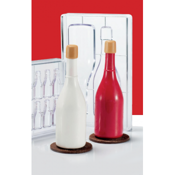 Polycarbonate Champagne BOTTLE Chocolate Mold - 65.4x220 mm - 120gr - 2 Cavity
