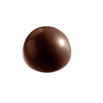 Polycarbonate Chocolate Hemisphere Mold Ø59x29 mm - 8pcs - 2x71gr - 275x175x35 mm
