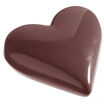 Polycarbonate Chocolate Heart Mold - 65x57x14mm - 35 gr - 2 x 4 Cavity - 275 x 135 x 24 mm