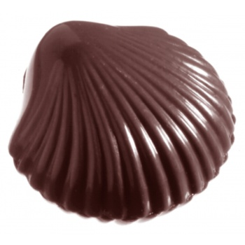 Polycarbonate Chocolate scallop shell Mold - 28x30x9mm - 5 gr - 4 x82 Cavity - 275 x 135 x 24 mm