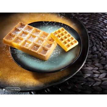 Polycarbonate Big Brussels Waffle Tablet Chocolate Bar - 103.5x69x10.5mm - 66gr - 1x3 cavity - 275x135x24mm
