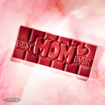 Polycarbonate BEST MOM EVER Tablet Chocolate Bar - 118x50x8mm - 45gr - 1x4 cavity - 275x135x24mm