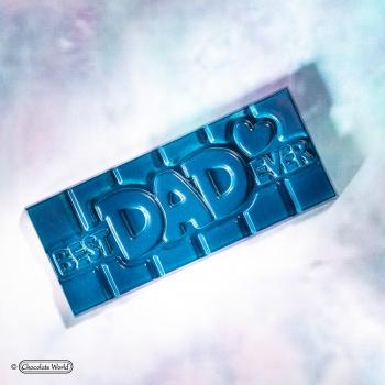 Polycarbonate BEST DAD EVER Tablet Chocolate Bar - 118x50x8mm - 45gr - 1x4 cavity - 275x135x24mm