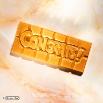 Polycarbonate CONGRATS Tablet Chocolate Bar - 118x50x8mm - 45gr - 1x4 cavity - 275x135x24mm