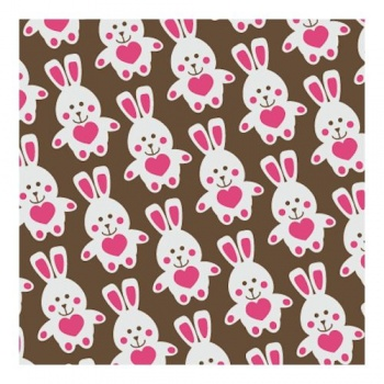 Chocolate Transfer Sheets - FUNNY BUNNY - 135x275 mm - 20 sheets