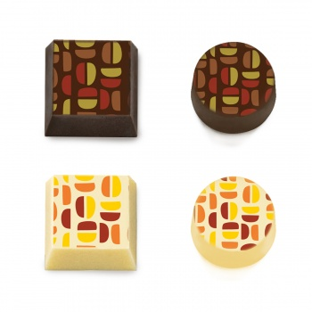Chocolate Transfer Sheets - COLOR BUNS - 300x400 mm - 20 sheets