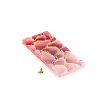 Silikomart Tritan Polycarbonate GOCCIA-T Chocolate Bar Mold by Kirsten Tibballs - 150x70x8.3mm - 80ml - 3 indents