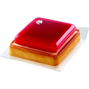 Square Mini Plastic Pastry Tray - 83 x 83 mm - White  - 100pcs