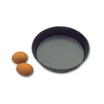 Matfer Bourgeat Exopan® Non-Stick Round Cake Mold - Diameter 9 1/2″, Height 1 3/4″