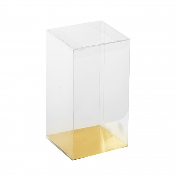 Large Clear Plastic Chocolate Tree, Egg Box Packaging with Gold Base - Pack of 20 - 150 x 150 x 250 mm