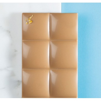 Polycarbonate Quilted 2 Chocolate Bar Mold - 132x66x10mm - 80 gr - 3 cavity