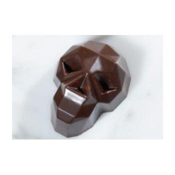 Polycarbonate Halloween Skull Chocolate Mold - 37x28x18 - 10gr - 20 cavity