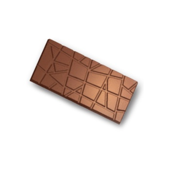 Polycarbonate Abstract Lines Chocolate Bar Mold - 140x70x6.6mm - 3x1 cavity - 70gr